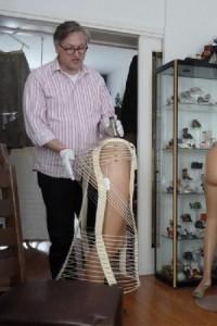 Dirk-Jan in actie tijdens een privé presentatie thuis