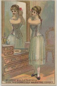 Amerikaans elastisch korset, ca. 1885