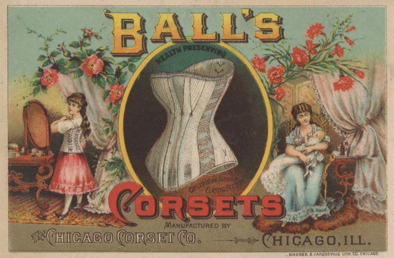 Amerikaans korset met elastische zijpanden, ca. 1885
