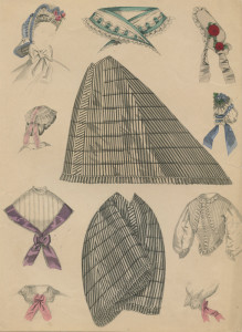 Inklapbare crinoline,1864