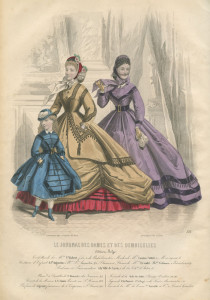 Crinoline silhouet uit 1865