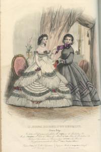 Crinoline silhouet uit 1861