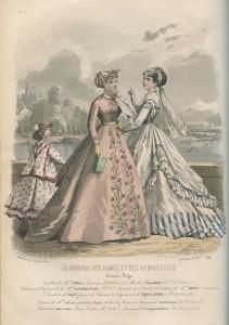 Crinoline-silhouet anno 1867