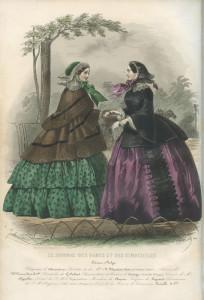 Crinoline silhouet 1856