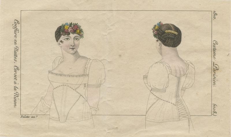 Korset à la Ninon, 1810