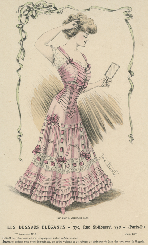 Lintkorset en bijpassende BH, 1907