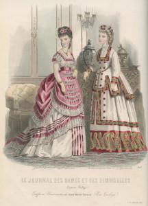 Crinoline-silhouet, 1870