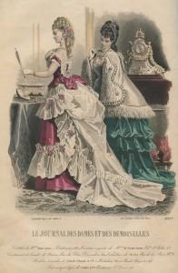 Tournure-silhouet anno 1872