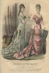 Tournure-silhouet, 1878