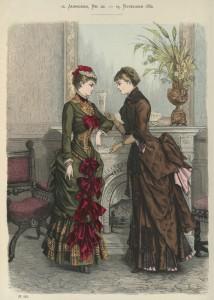Tournure-silhouet, 1882