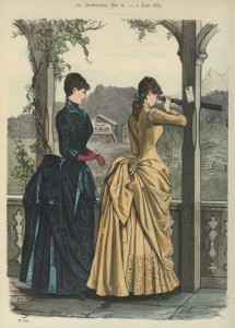 Tournure-silhouet, 1885