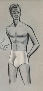 Anatomisch gevormde rubberen slip, jaren zestig