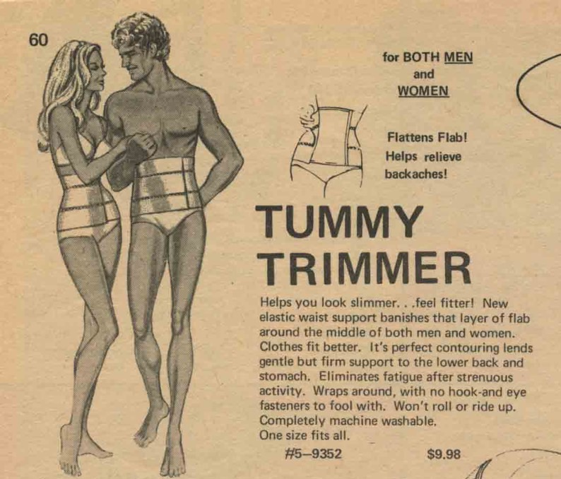 'Tummy Trimmer' van Frederick's of Hollywood, 1974
