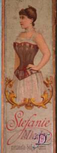 Detail van korsetdoos, ca. 1890