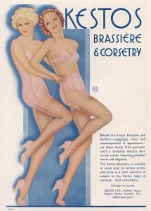 Kestos bh's en korsetten, 1934