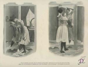 Mlle. Declos in luxueuze lingerie, ca. 1905