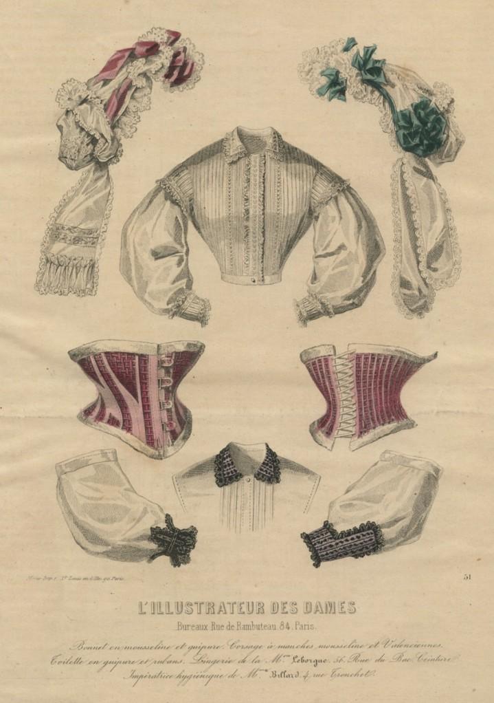 Korsetten, ca. 1863