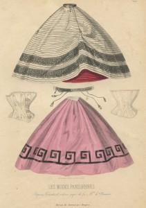 Onderrokken en korsetten, ca. 1862