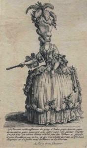 Paniersilhouet, ca.1780