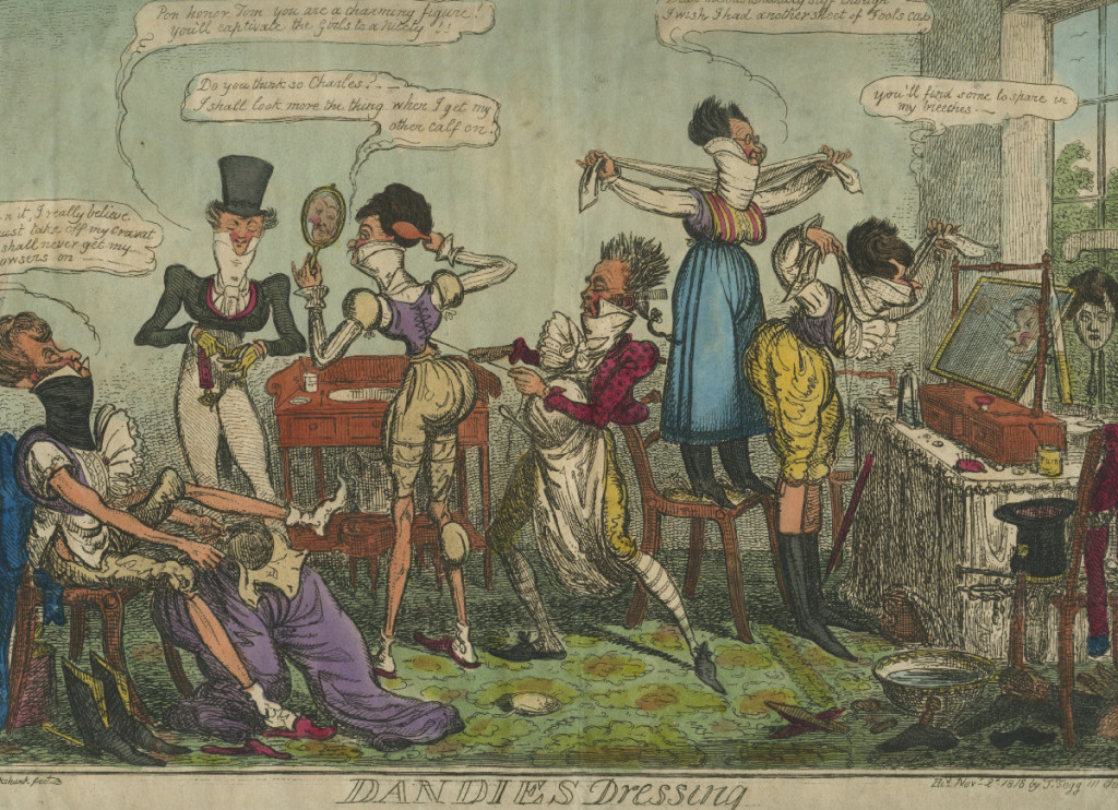 Dandies dressing, 1819