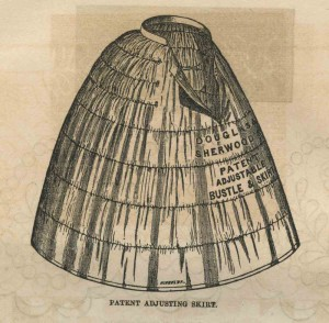 Douglas & Sherwood crinoline met ingebouwde tournure, 1858