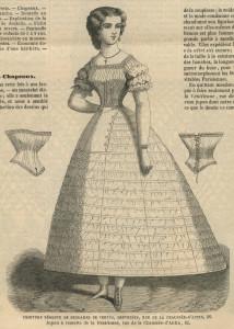 Korsetten en crinoline in 1861