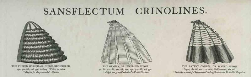Crinolines van Philpott, 1864