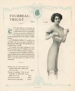 Tricot corset van Claverie, ca. 1912