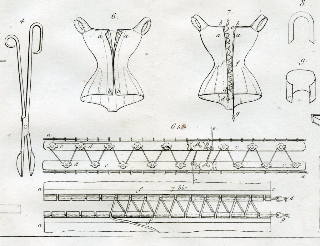 Twee van de gepatenteerde busken van Josselin (katrollen en pennen), 1833