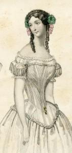 Korset dat stijver is gebaleineerd, 1850