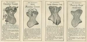 Folder van de coraline korsetten van Warner Bros., ca. 1885