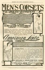 Advertentie voor een Amerikaans mannenkorset, 1903
