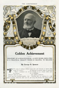 D.H. Fanning bij het vijftigjarig jubileum van zijn bedrijf in 1911