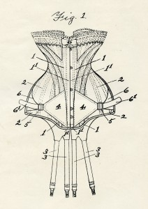 Patent voor de Adjusto korsetten voor de stevig gebouwde vrouwen, 1907
